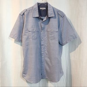Chambray style button down